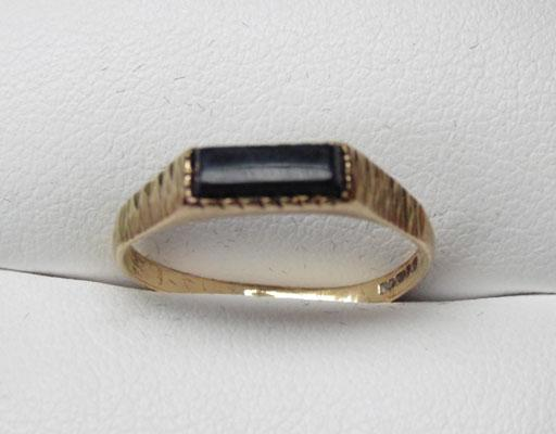 9ct Gold Black Onyx signet ring size N