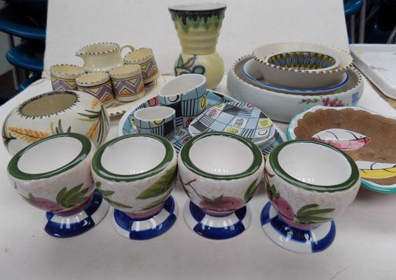 Selection of novelty painted pottery