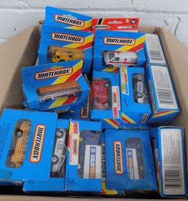 Selection of boxed Matchbox cars