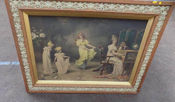 Picture in decorative frame