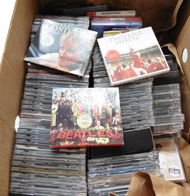 Box of CD's & tapes