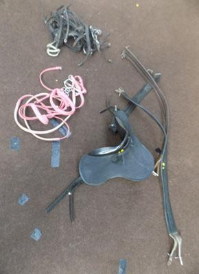 Childs learning saddle & bits/girth