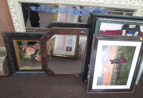 Large collection of pictures & mirrors