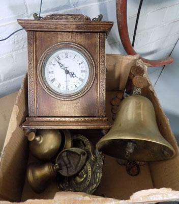 Selection of brass & 1 clock