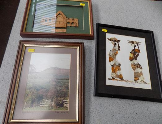 3x Small framed pictures