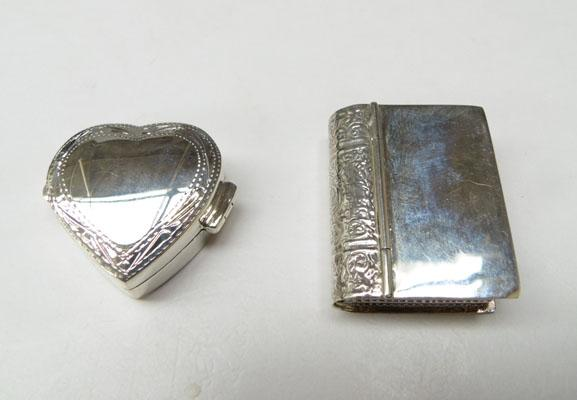 2x 925 Silver Pill boxes