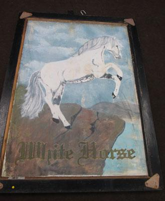 White Horse hanging sign