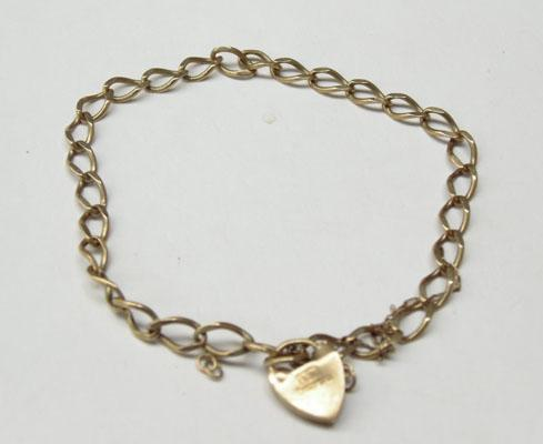 9ct Gold bracelet for charms