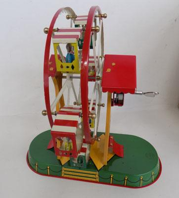 Tin wind up fairground toy