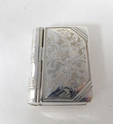 Silver vesta case with stamp compartment