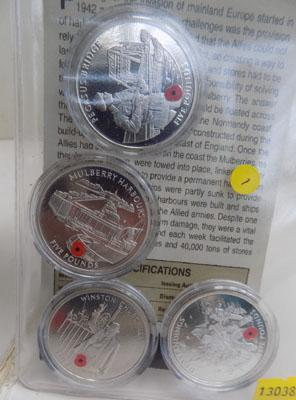 Pack of Gibraltar coins