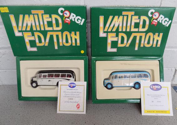 Pair of Ltd Edition Corgi coaches