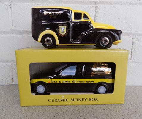 Pair of Ringtons money boxes
