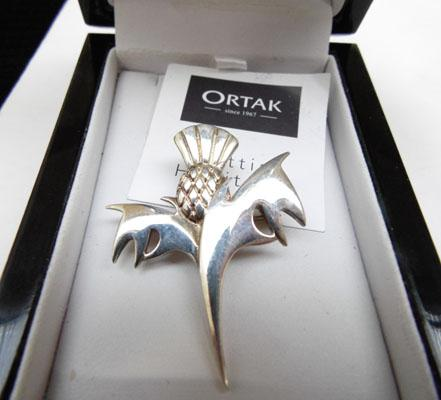Ortak silver Scottish brooch