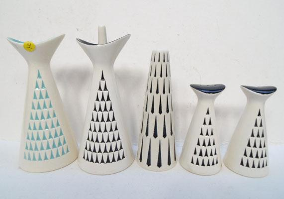 Hornsea pottery salt, pepper & vinegar