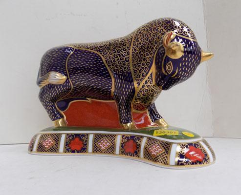 Royal Crown Derby Bull paperweight