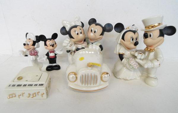 Collection of Mickey Mouse collectable porcelain