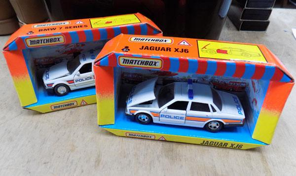 2x Matchbox Police cars