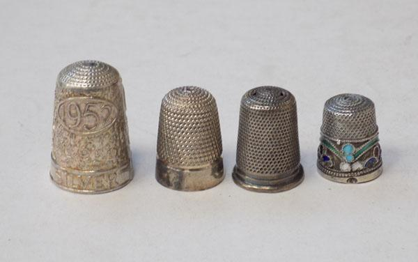 Collection of 4 Thimbles