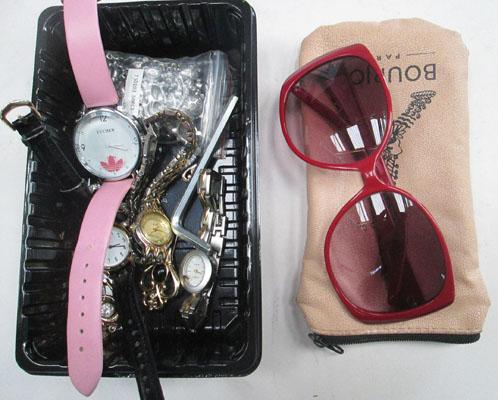 Bag of watches & 9ct Gold items