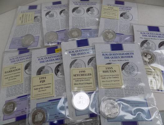 Selection of proof coins