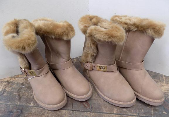 2x Pairs of ladies Tan boots