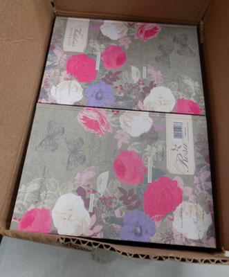 Box of new note books