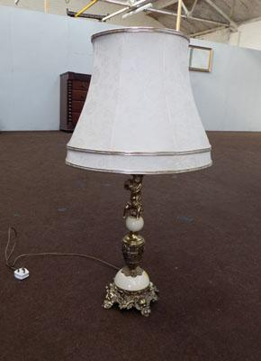 Decorative brass tall table lamp