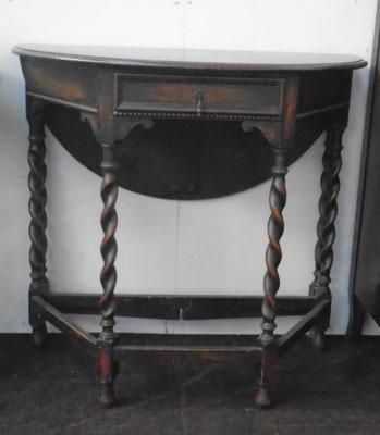 Drop leaf barley twist hall stand