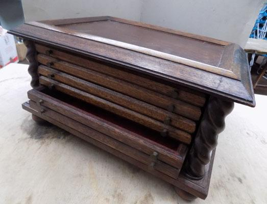 Old coin collectors cabinet