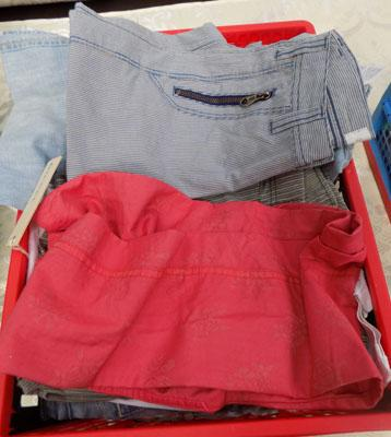 Box of new kids Diesel jeans