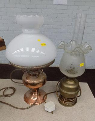 2x Oil lamps (converted)