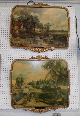 2x Constable prints in ornate frames