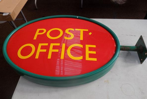 Large Post Office sign