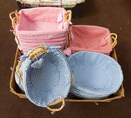 Box of craft baskets