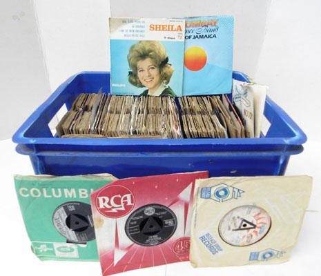 "Collection of 7"" vinyl records 50's,60's,70's some rare inc demos"