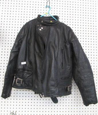 Leather bike jacket & trousers size 44