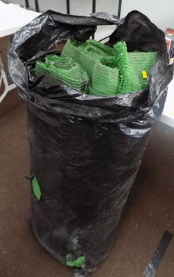 Bag of artificial grass
