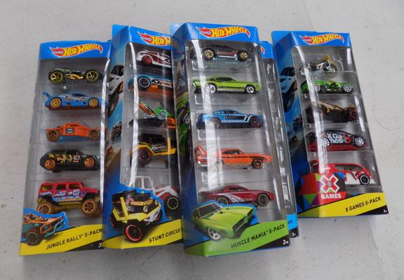 Box of Hot wheels