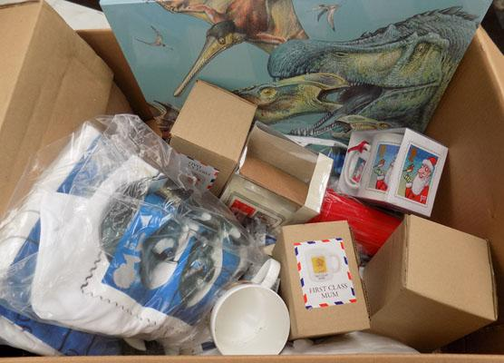 Box of Royal Mail collectables