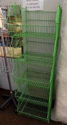 5x Shop storage baskets