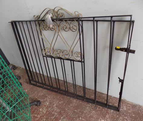 Pair 8ft opening iron gates with fittings