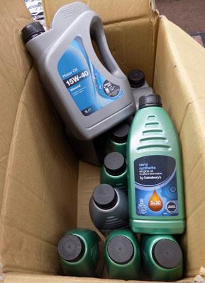 12x New bottles of engine oil