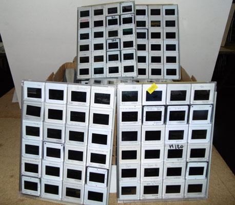 25 Display trays of Aircraft colour slides