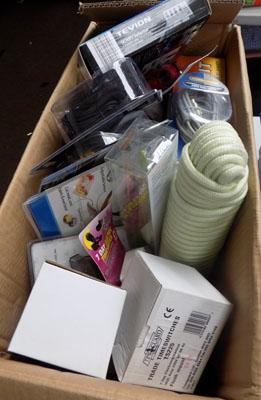 Box of new household items