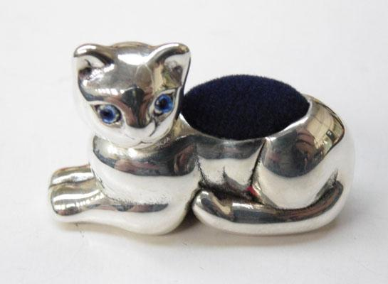 Silver Cat pin cushion