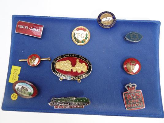 Collection of enamel badges