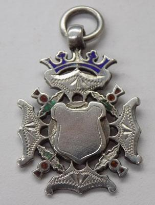 Sterling silver Thistle themed watch fob