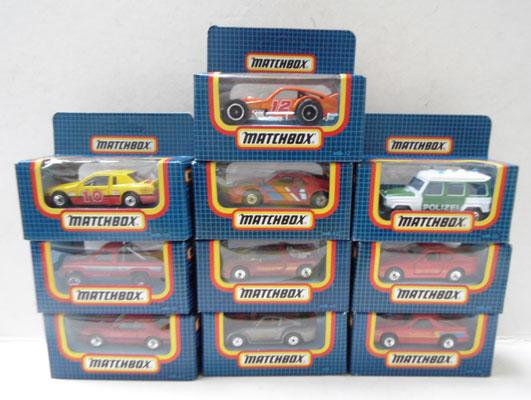 Collection of Matchbox cars