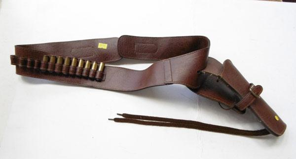 Western holster with deactivated bullets